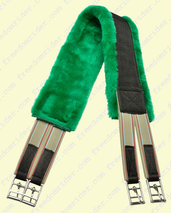 Fleece Girth with Elastic Ends in Colors