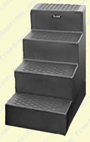 Non-Skid Four Step Mounting Block
