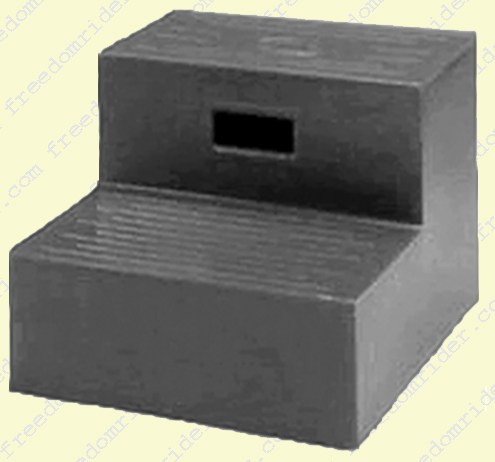 Non-Skid Two Step Mounting Block