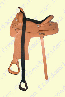 Western Mounting Stirrup on a Western Saddle