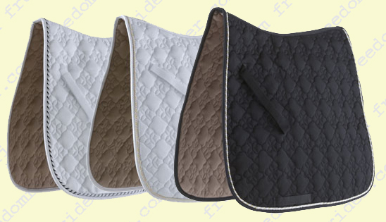 Ecole Cotton Flower Diamond Quilt Dressage Saddle Pad
