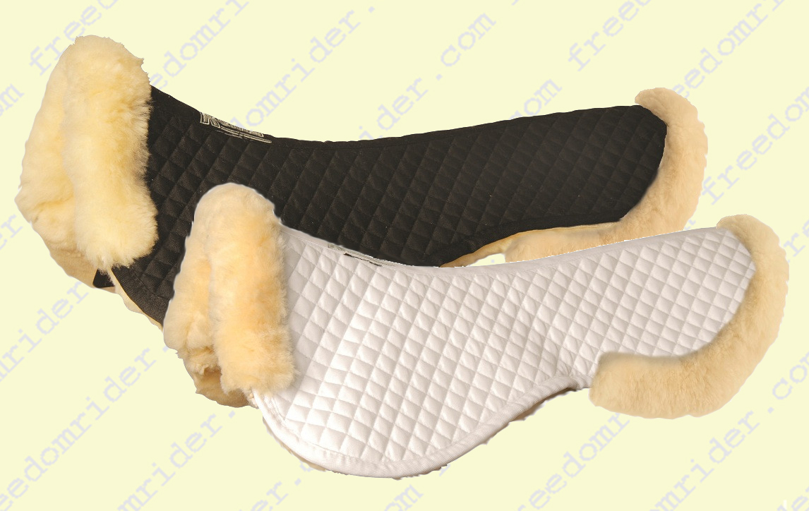 Roma Sheepskin Half Pad with Full Rolled Edges
