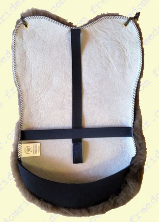 English Dressage Deluxe Sheepskin Seat Saver underside view